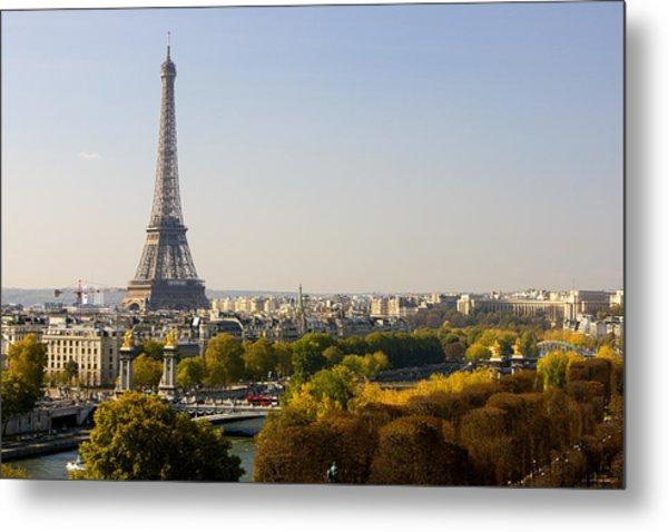 Paris France The Eiffel Tower Metal Print