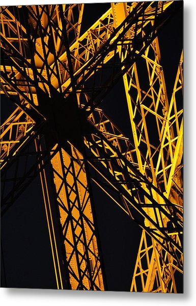 Eiffel Tower Detail Metal Print