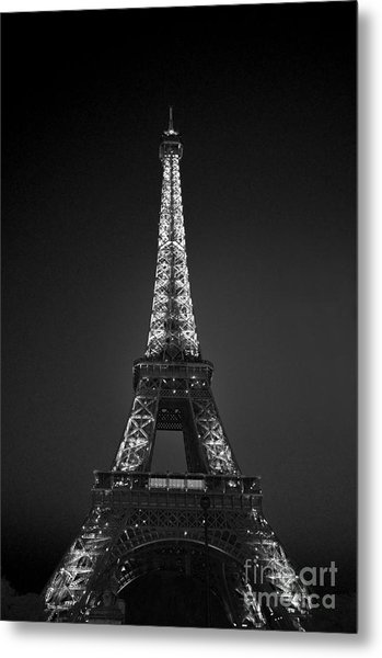 Eiffel Tower Infrared Metal Print