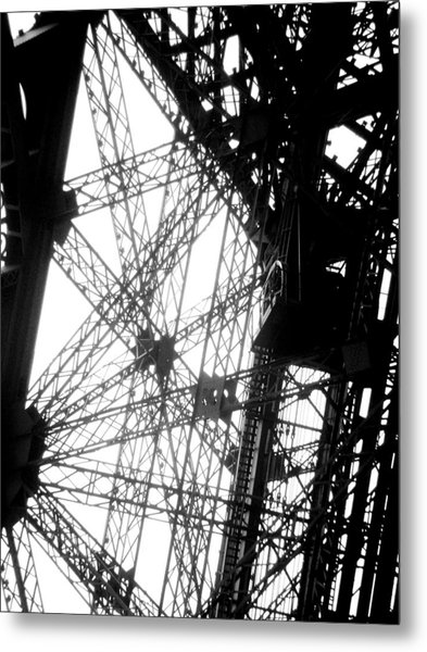 Eiffel Tower Lift Metal Print by Rita Haeussler
