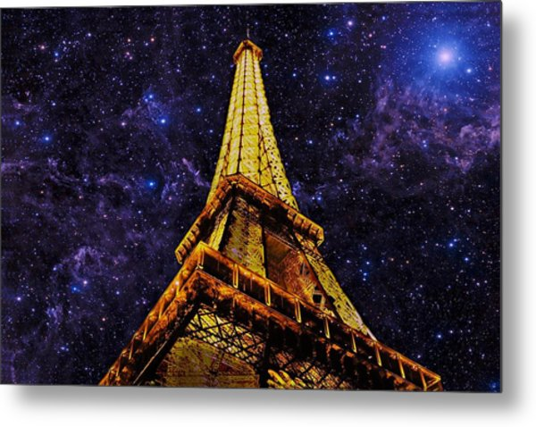Eiffel Tower Photographic Art Metal Print