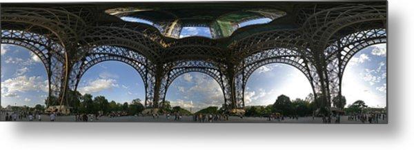 Eiffel Tower Unwrapped Metal Print by Gary Lobdell