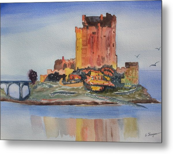 Eilean Donan Castle  Dornie Inverness Shire Scotland Metal Print by Warren Thompson