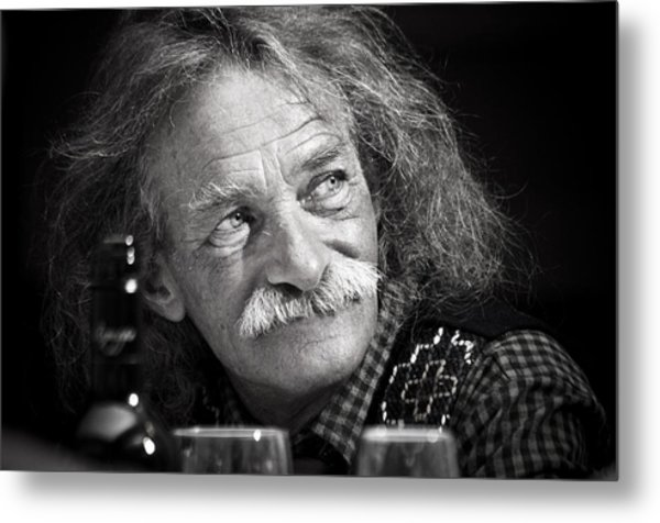 Einstein Hair Metal Print