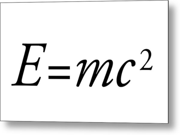 Einstein's Mass-energy Equation Metal Print by Science Photo Library