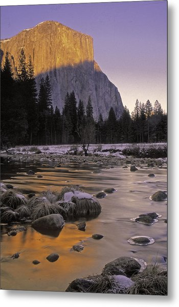 El Capitan Sunset And The Merced River Metal Print