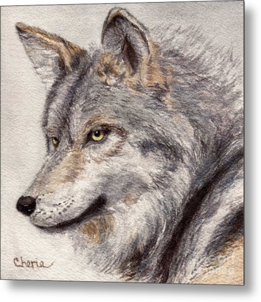 El Lobo Metal Print by Vikki Wicks