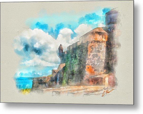 El Morro Castle.. Metal Print