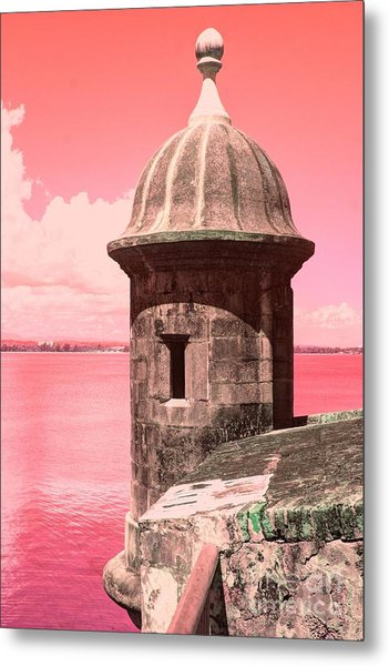 El Morro In The Pink Metal Print