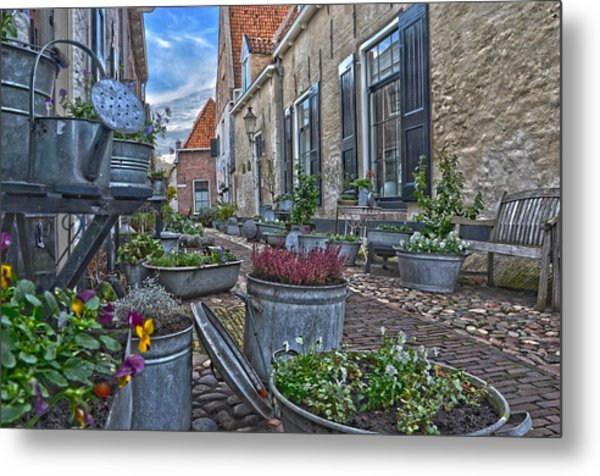Elburg Alley Metal Print