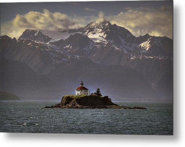 Eldred Rock Lighthouse Alaska Metal Print