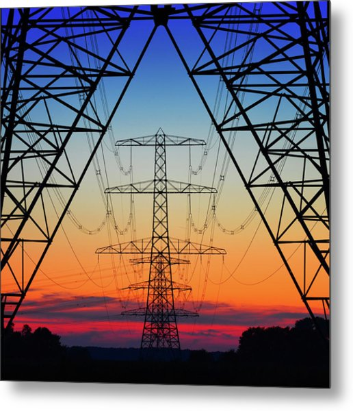 Electric Coloured Sky Metal Print