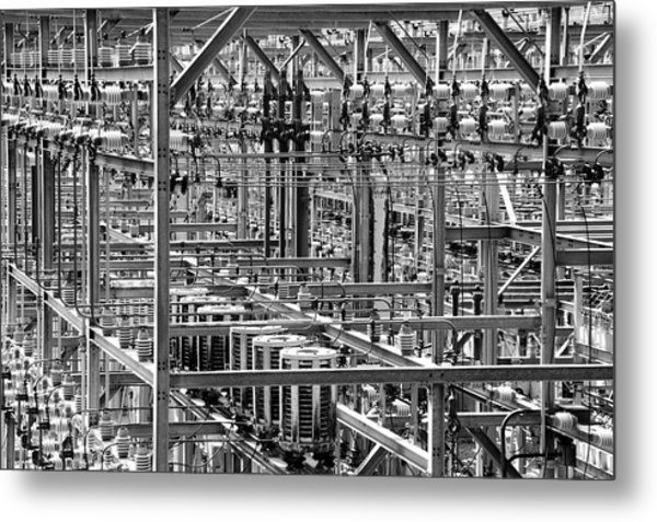 Electric Power Grid Metal Print