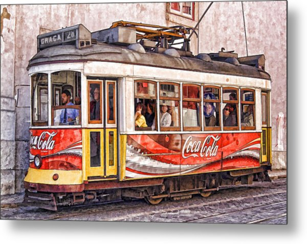 Electric Trolly Of Lisbon Metal Print