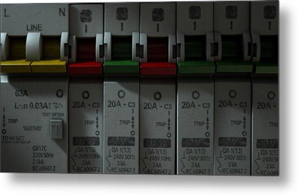 Electrical Circuit Breaker Panel Metal Print
