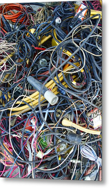 Electrical Cord Picking Metal Print