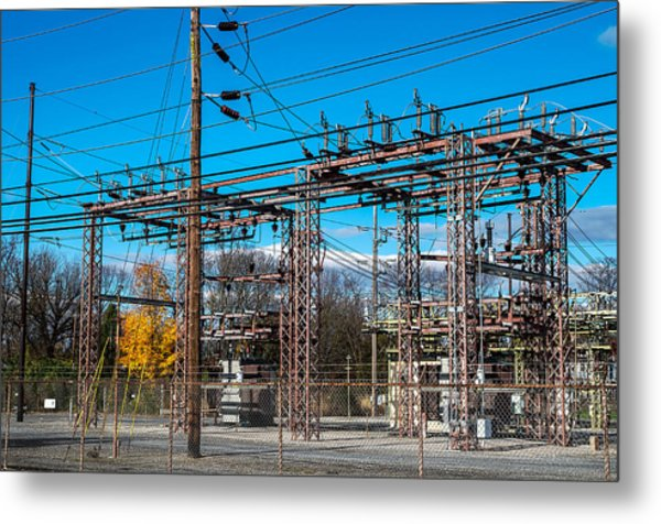 Electricity Station Metal Print