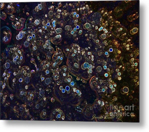 Electrified Neon Bubbles Metal Print