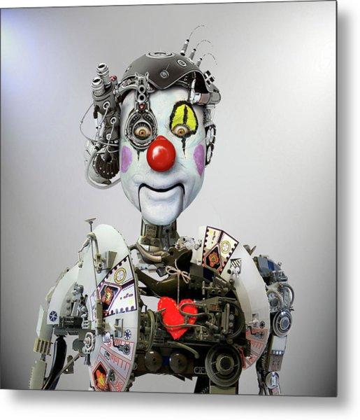 Electronic Clown Metal Print