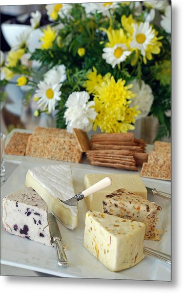 Elegant Cheese Buffet Metal Print
