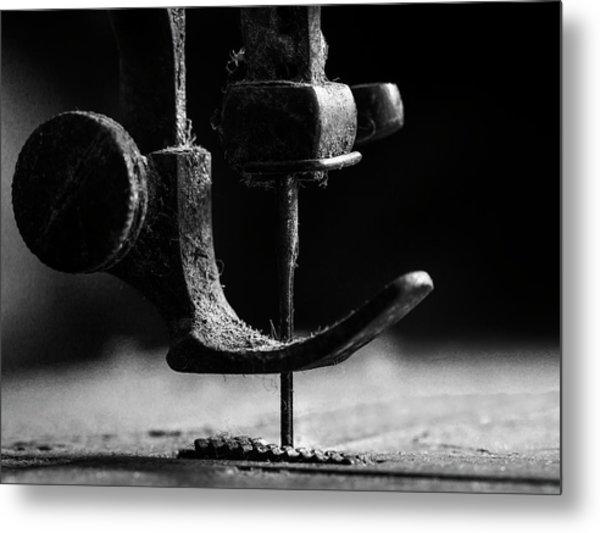 .....element Sewing Machine..... Metal Print