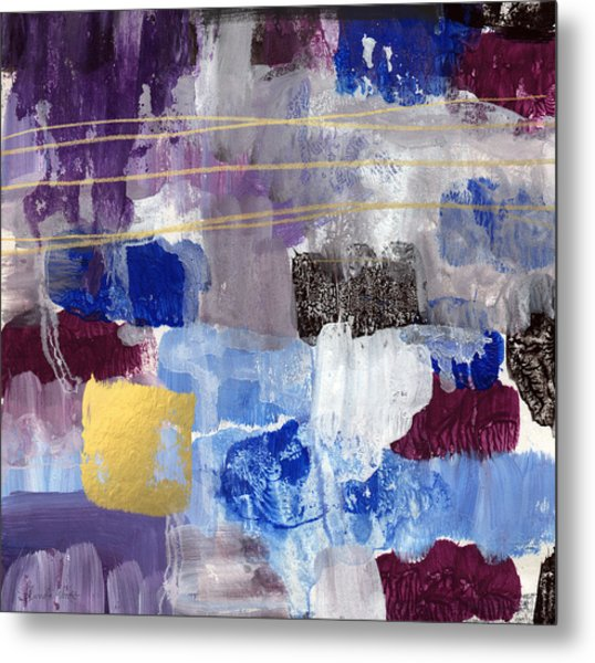 Elemental- Abstract Expressionist Painting Metal Print