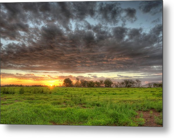 Elements Of A Waimea Sunset Metal Print