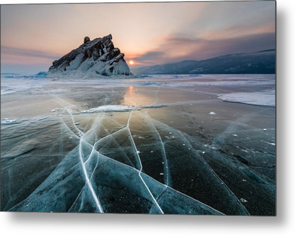 Elenka Island On Lake Baikal In Winter Metal Print by Anton Petrus