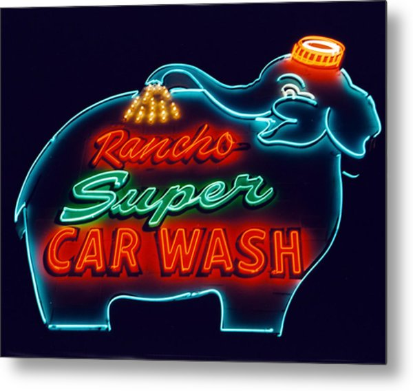 Elephant Car Wash Rancho Mirage California Metal Print