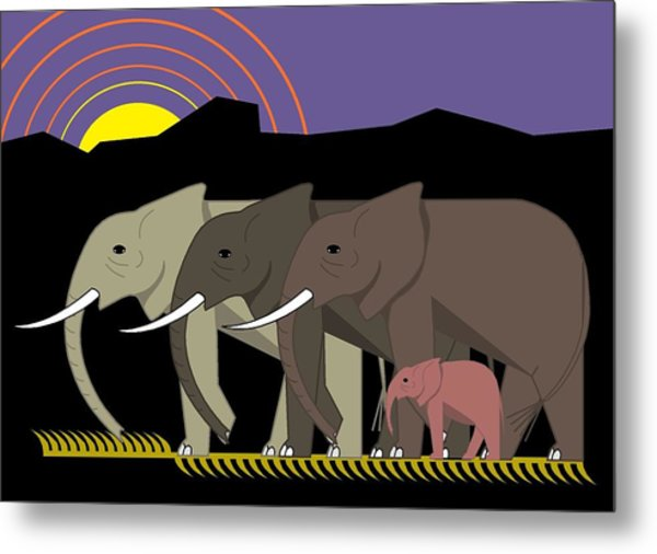 Elephant Parade Metal Print