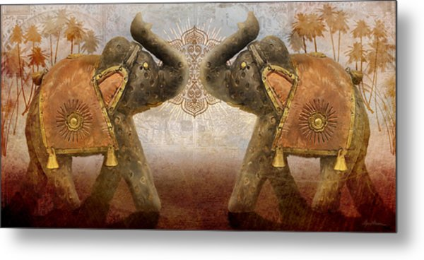 Elephants I Metal Print
