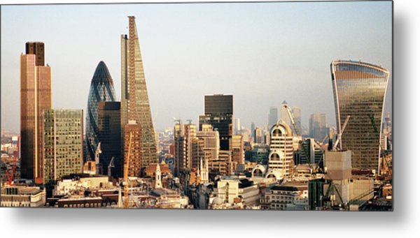 Elevated View Over London City Skyline Metal Print by Gary Yeowell