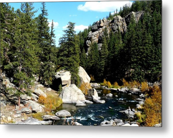 Eleven Mile Canyon Stream Metal Print