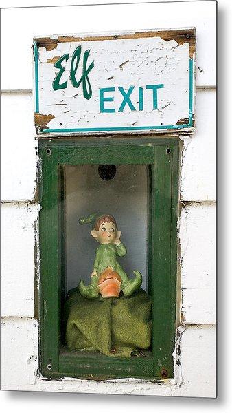 elf exit, Dubuque, Iowa Metal Print