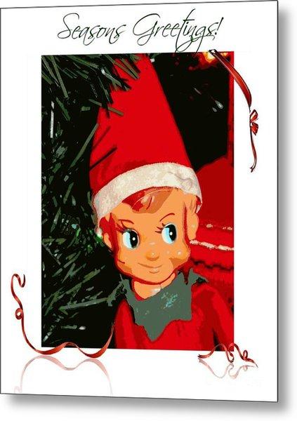 Elf On The Shelf Season's Greetings Metal Print
