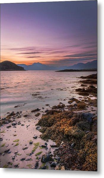 Landscape Wall Art Sunset Isle Of Skye Metal Print