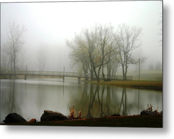 Elim Bible College Pond Lima Ny Metal Print
