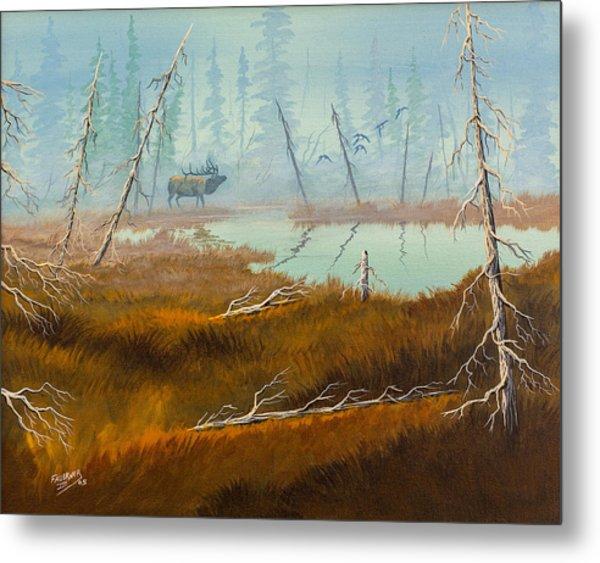 Elk Swamp Metal Print