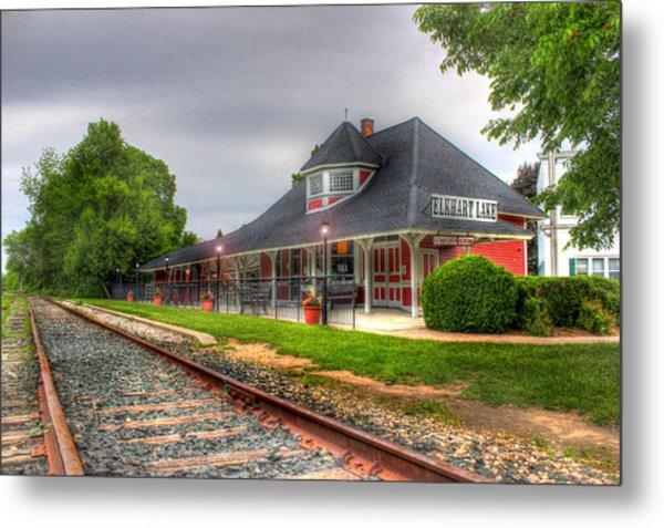 Elkhart Lake Historic Train Depot Metal Print