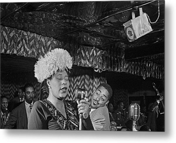 Ella Fitzgerald And Dizzy Gillespie William Gottleib Photo Unknown Location September 1947-2014. Metal Print