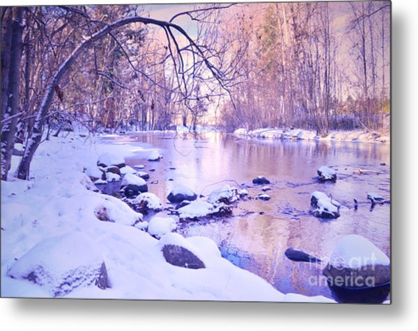 Ellis Creek On A Sunday Morning Metal Print