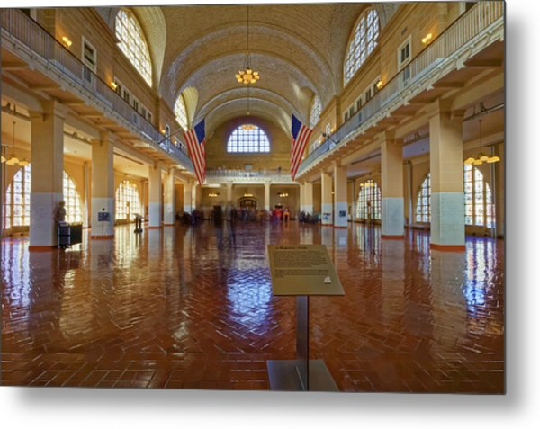 Ellis Island Registry Room Metal Print