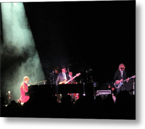 Elton And Band Metal Print