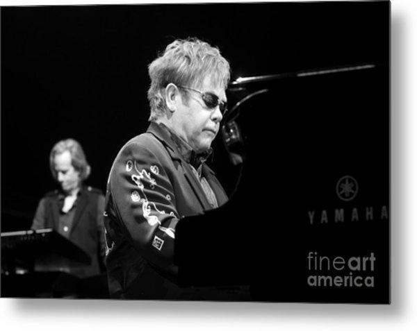 Elton John Metal Print by Jenny Potter