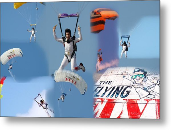 Elvis In The Sky Metal Print