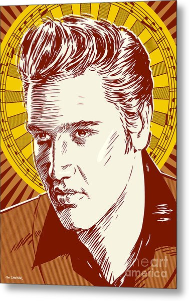 Elvis Presley Pop Art Metal Print