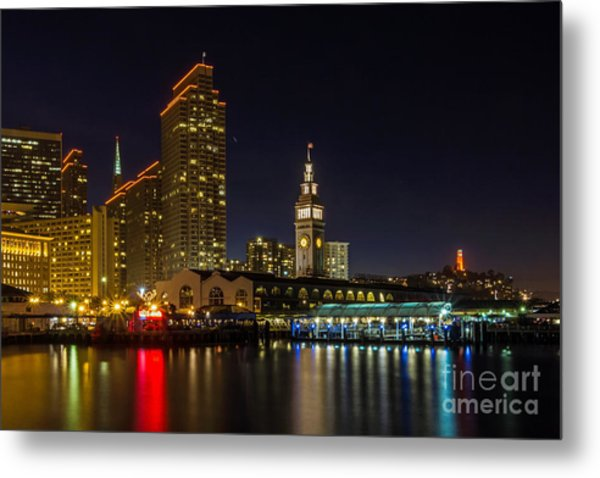 Embarcadero Blue Hour Metal Print