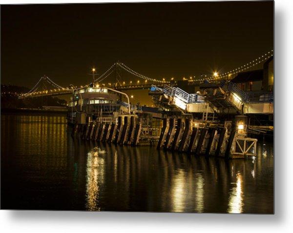 Embarcadero Boats Metal Print