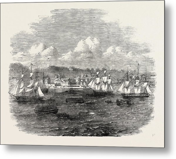 Embarkation Of The 13th Or Prince Alberts Light Infantry Metal Print