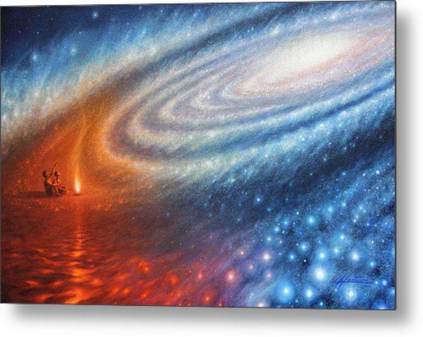 Embers Of Exploration And Enlightenment Metal Print